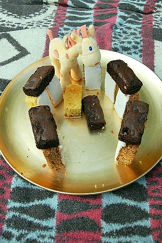 giraffe cakehenge