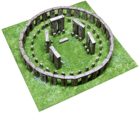 how to make a model of stonehenge with clay