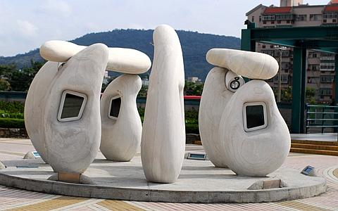Interactive Stonehenge Sculpture, Taipei Public Arts