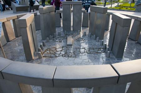 Stonehenge replica at the Moscow Planetarium