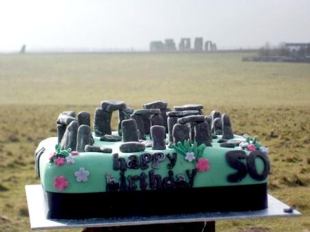Stonehenge cake at Stonehenge Drove, spring equinox