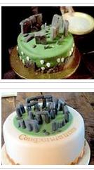 Examples of Stonehenge cakes