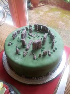 Stonehenge cake by Iced-Moments