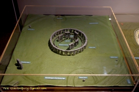 Stonehenge model, photo by Pete Glastonbury, used with permission