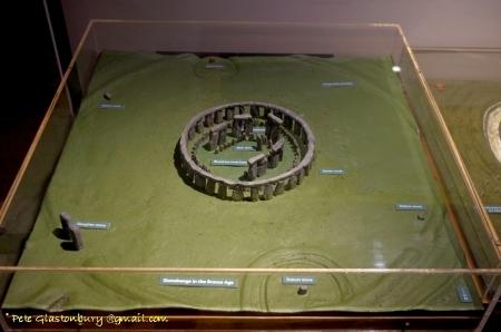 Stonehenge model, photo by Pete Glastonbury, used with permission