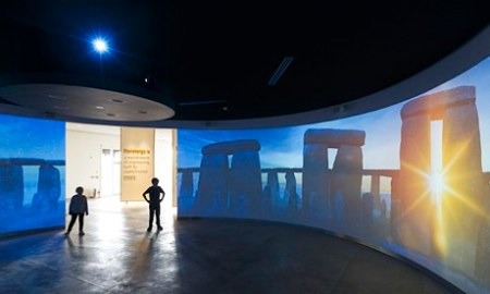 a panorama at the Centre permits the experience of solstice sunrise all year long