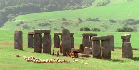 A shot of the Stonehenge in Shanghai Knights
