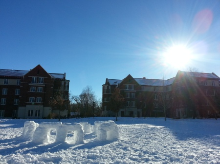 Carleton College's snowhenge. Photo by Agnes Tse, used with permission