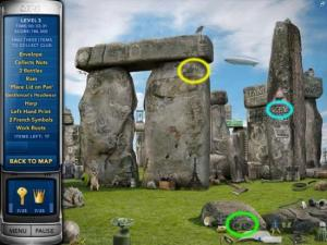 Stonehenge in Mystery P.I.—London Caper from Gamezebo's walkthrough