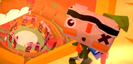 screenshot from the game Tearaway