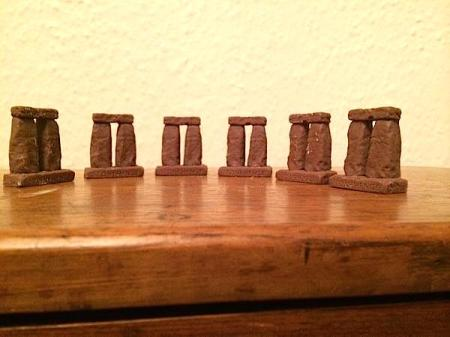 Stonehenge of chocolate trilithons by @SchPrehistory