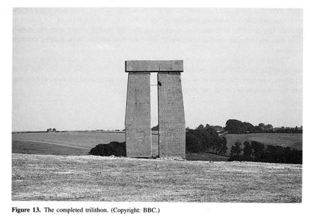 1996 concrete trilithon replica