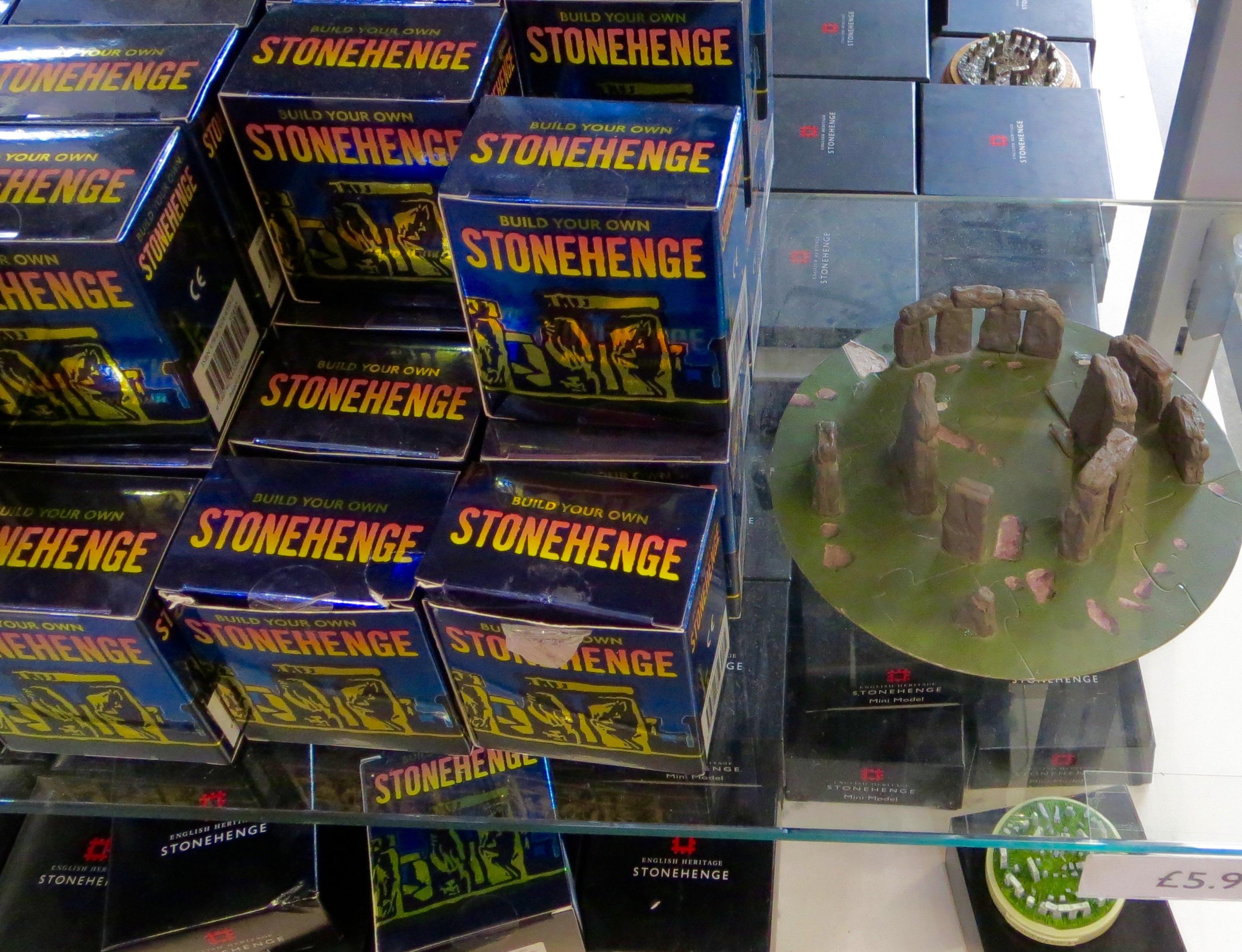 shelves full of Stonehenge replica: Clonehenge dream or Clonehenge nightmare??